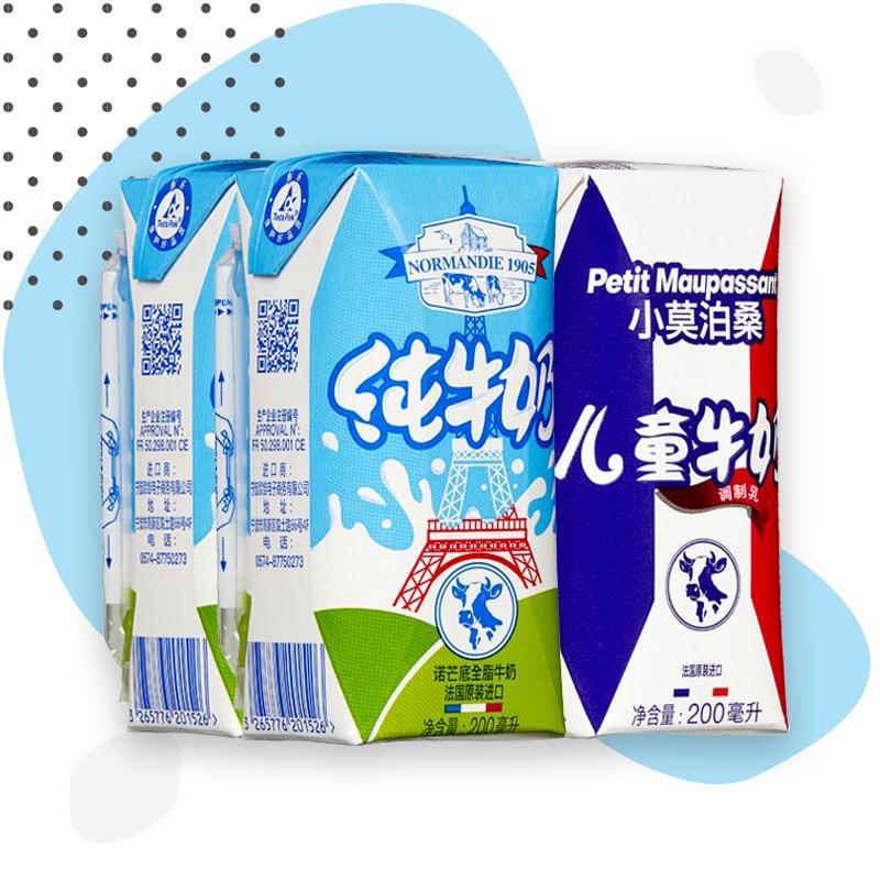 Montage pack lait